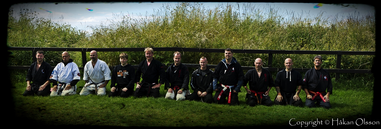 Line up black belts @ The Castle in Kungälv